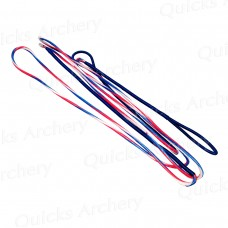 TD71 Custom Made Tri-Colour Candy Stripe Strings with string keeper 20 strands BCY 8190