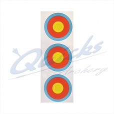 Target Face Arrowhead 40cm Vertical 3 spot  face (pack of 100) DISCOUNTED PRICE : AT37