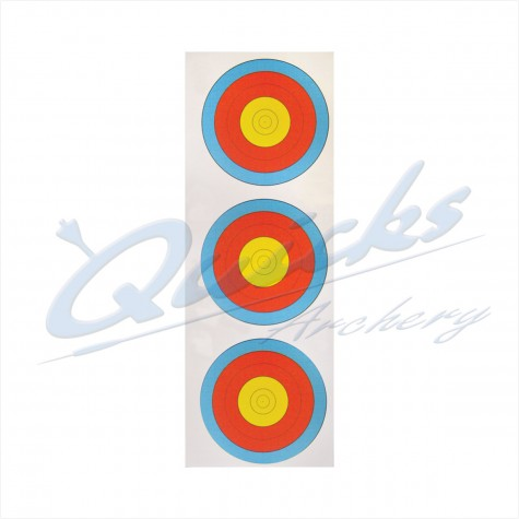 Target Face Arrowhead 40cm Vertical 3 spot  face (pack of 100) DISCOUNTED PRICE : AT37RoundelAT37X100