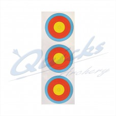Target Face  Arrowhead 40cm Vertical  3 spot face COMPOUND INNER 10 RING only (Pack of 100) DISCOUNTED PRICE : AT46