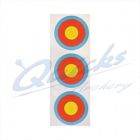 Target Face  Arrowhead 40cm Vertical  3 spot face COMPOUND INNER 10 RING only : AT46RoundelAT46