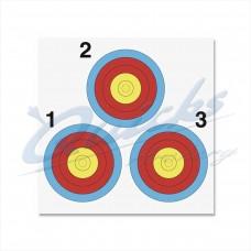Vegas Target Face 40cm 3 spot by Arrowhead : AT49