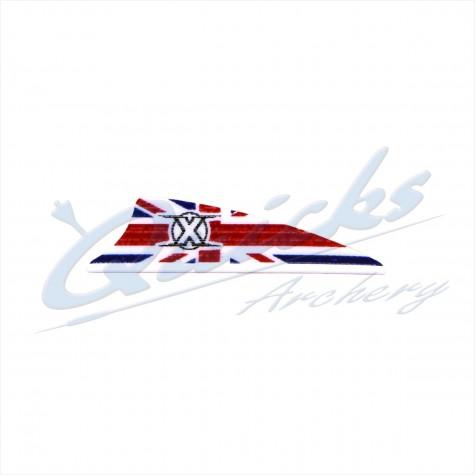 Bohning X-Vanes 1.75 inch (per doz) : Union Jack/GB Flag : BF10Plastic VanesBF10UK