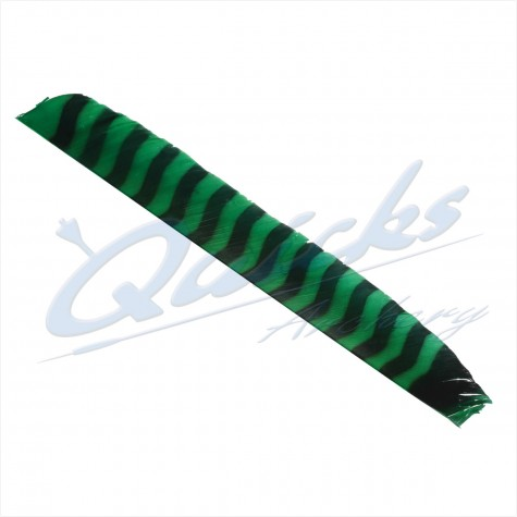 Bearpaw Full Length (8-11 inch) Barred Feathers Left Wing Green (each) : BF30FeathersBF30GR