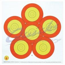 Danage 40cm 6 spot target face : DT65