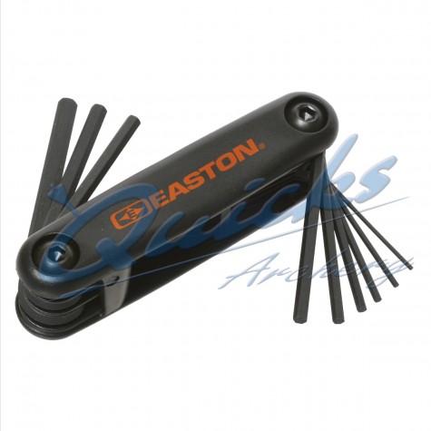 Easton Std Allen Wrench Fold Up Set : Heavy duty molded plastic base : Black : EA50Hex / Torx SetsEA50