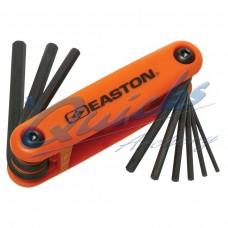 EA51 Easton Pro Allen Wrench Fold Up Set : Heavy duty molded plastic base : Orange