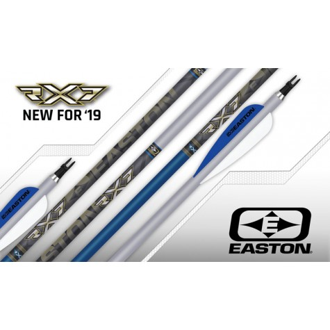 Easton RX7 Arrows s, Super Nocks & EP93 Points (Set of 12) : ES05 Aluminium Arrows ES05 12F