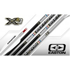 Easton X23 Black/Silver Arrows, Super Nocks & EP93 Points (Set of 12) : ES08
