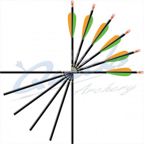 Easton ACC Arrows with Plastifletch Vanes (not -00 sizes) (set of 12) : ES57Carbon ArrowsES57 3FL 12