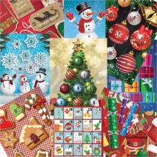 Egertec Christmas Novelty Faces : Pack of 10 assorted : GT33