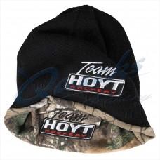 HC89 Hoyt Black/Camo reversible beanie hat