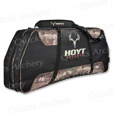 HE57 Hoyt De Luxe Bow Case, Semi soft case with camo flashes and Hoyt Skull logo
