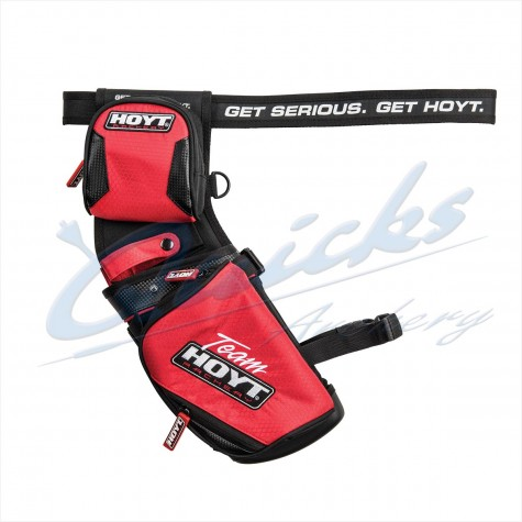 Team Hoyt Holster Field Quiver Red/Black : Includes Belt : RH / LH Reversible : HQ44Quivers & BeltsHQ44