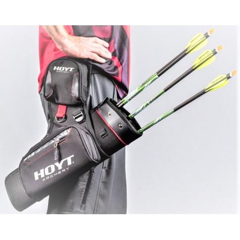 Hoyt Range Time Side Quiver Black  RH/LH  Includes Belt : Quicks Archery