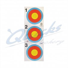 Target Face 40cm Bjorn Vertical 3 spot face : IT16