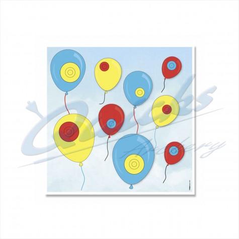 Target Face : Balloon Novelty Face : KT46Novelty FacesKT46