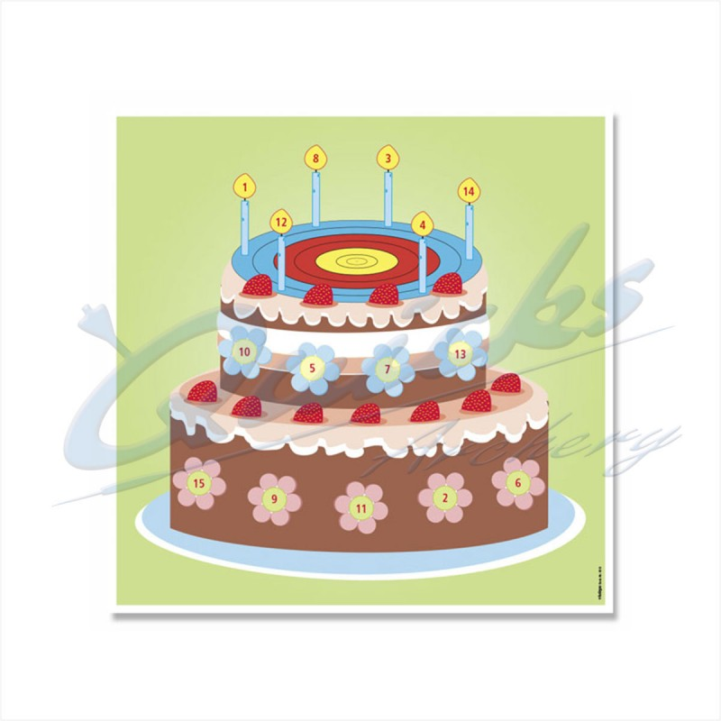 Target Face Birthday Cake Novelty KT49Novelty FacesKT49