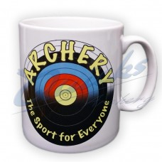 Archery Mug : White mug with archery logo on both sides : MA30