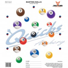 OT48 Busting Billiard Balls/Pool Target Face 10.5x12 inches