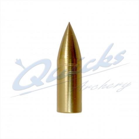 Brass Screw-On Bullet Point 5/16 80grain (each) : QP10Points For Wood ArrowsQP10