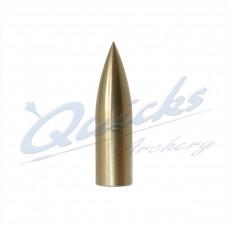 QP11 Brass Bullet Point Screw On 5/16 100grain (each)