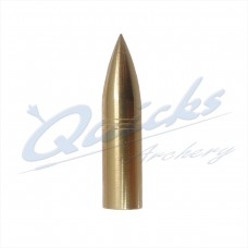 QP12 Brass Bullet Point Screw On 5/16 125grain (each)