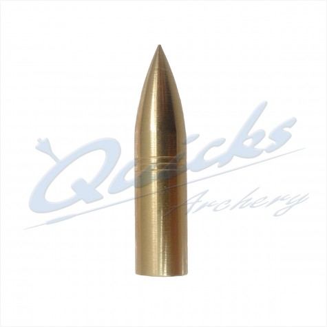 Brass Screw-On Bullet Point 5/16 125grain (each) : QP12Points For Wood ArrowsQP12
