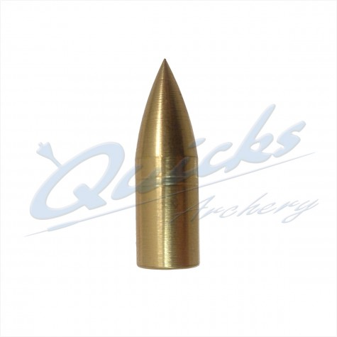 Brass Screw-On Bullet Point 11/32 100grain (each) : QP13Points For Wood ArrowsQP13