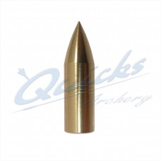 Brass Screw-On Bullet Point 11/32 125grain (each) : QP14