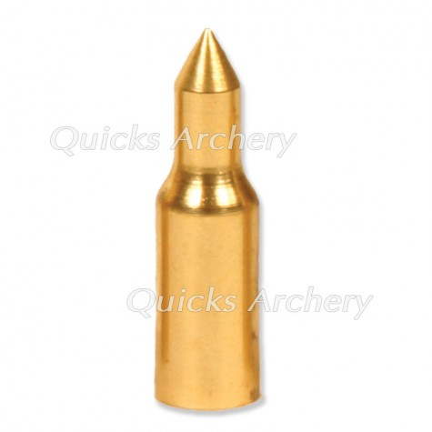 Brass 3D Taper Fit Point 5/16 100grains (each) : QP21Points For Wood ArrowsQP21