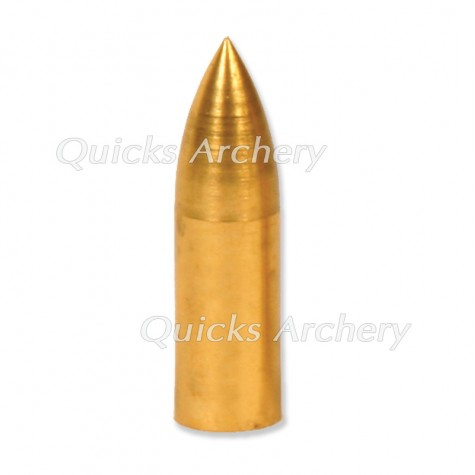 Brass Taper Fit Bullet Point 11/32 100 or 125grain (each) : QP31Points For Wood ArrowsQP31