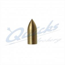 Brass Parallel Fit Bullet Point 1/4 OD - 7/32 ID - 20grain (each) : QP32