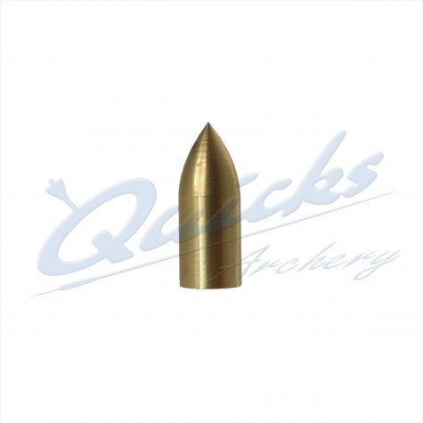 Brass Parallel Fit Bullet Point 1/4 OD - 7/32 ID - 20grain (each) : QP32Points For Wood ArrowsQP32