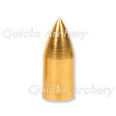 QP38 Brass Bullet Point Parallel Fit 9/32 OD 1/4 ID 50grain (each)