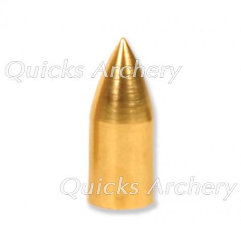 Brass Parallel Fit Bullet Point 9/32 OD 1/4 ID 50grain (each) : QP38Points For Wood ArrowsQP38