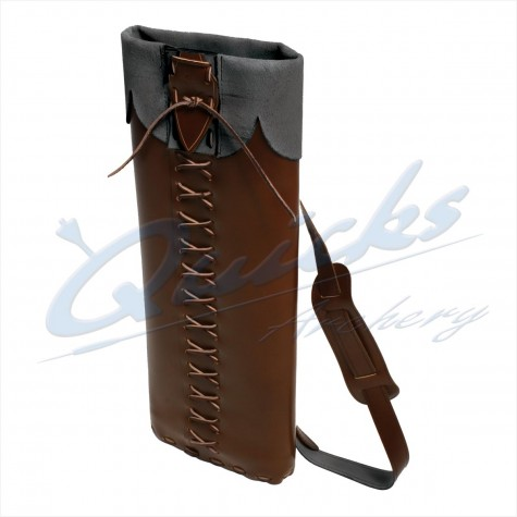 Longshot Traditional Leather Back Quiver : QQ77Quivers & BeltsQQ77