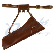 Longshot Traditional Leather Side Quiver Set : QQ78
