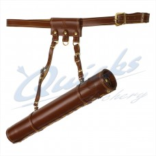 Longshot Longbow Leather Tube Quiver : QQ86