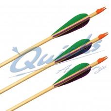 QS60 Longshot Wooden Economy Arrows (set of 12)
