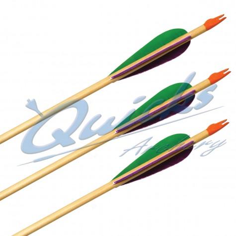 Longshot Standard Wooden Arrows (set of 12) : QS60Wooden ArrowsQS60X12