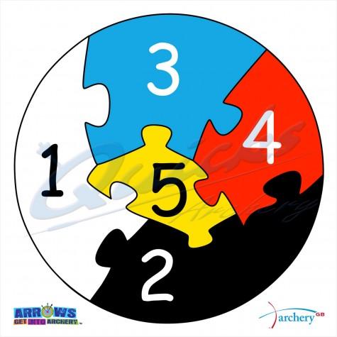 Arrows Archery Jigsaw Puzzle Piece Target Face : QT05Novelty FacesQT05