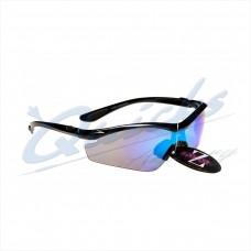 RC15bl Rayzor Sports Sunglasses Vyzor Model R1612BKBL  Black frames blue lens
