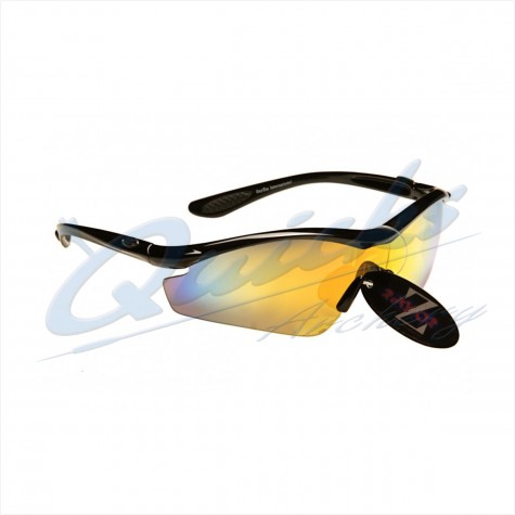 Rayzor Sports Sunglasses Vyzor Model R1612BKGO Black frames gold lens : RC15goSunglassesRC15GO