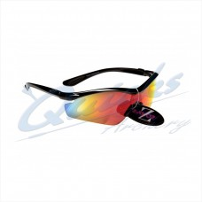 Rayzor Sports Sunglasses Vyzor Model R1612BKPL Black frames orange lens : RC15or