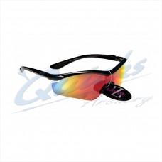 RC15or Rayzor Sports Sunglasses Vyzor Model  R1612BKPL Black frames orange lens