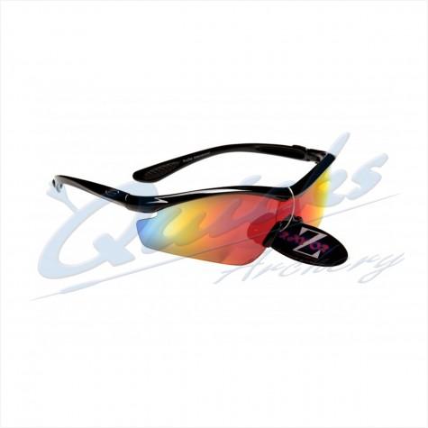 Rayzor Sports Sunglasses Vyzor Model R1612BKPL Black frames orange lens : RC15orSunglassesRC15OR