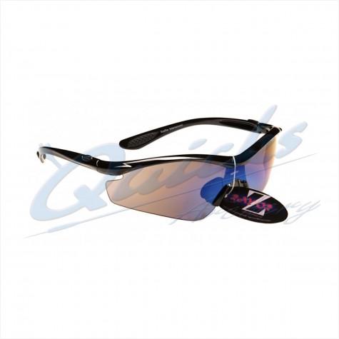 Rayzor Sports Sunglasses Vyzor Model R1612BKBL15 Black frames smoke blue lens : RC15smSunglassesRC15SM