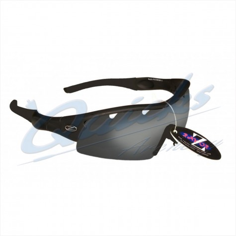 Rayzor Sports Sunglasses Ventz Model R1220BKPL13 Black frames black lens : RC22bkSunglassesRC22BK