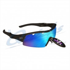 Rayzor Sports Sunglasses Ventz Model R1220BKBL Black frames blue lens : RC22bkbl